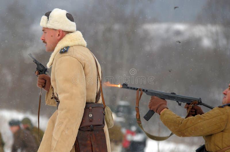 Ricostruzione storica militare della seconda guerra mondiale fotografia stock libera da diritti