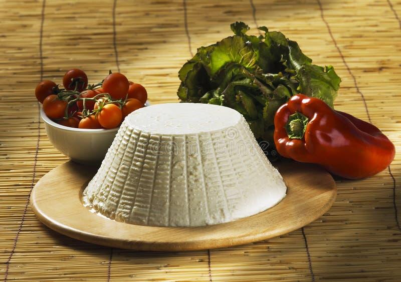 Ricotta dell'italiano del formaggio fresco fotografie stock
