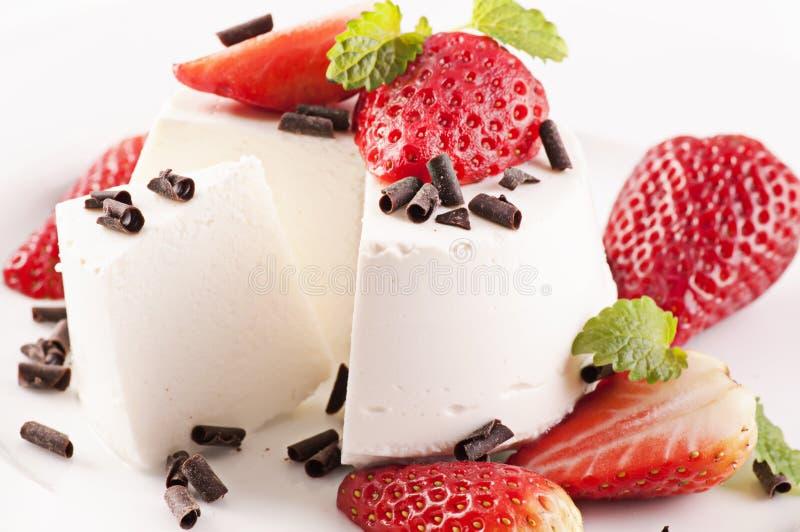 Ricotta dessert royalty free stock photography