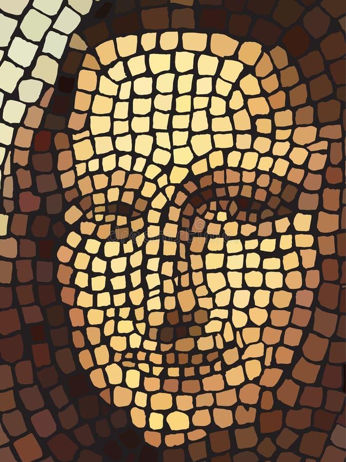Ricreazione del mosaico di Mona Lisa royalty illustrazione gratis