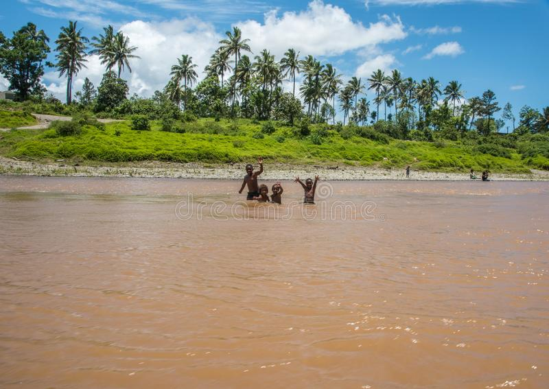 Ricreazione della famiglia in Figi immagini stock libere da diritti