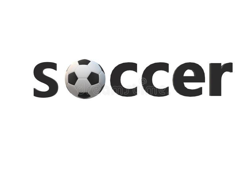 Ricreazione nera bianca di sport del testo del fondo della palla di calcio di verde del punteggio del testo del pallone da calcio royalty illustrazione gratis
