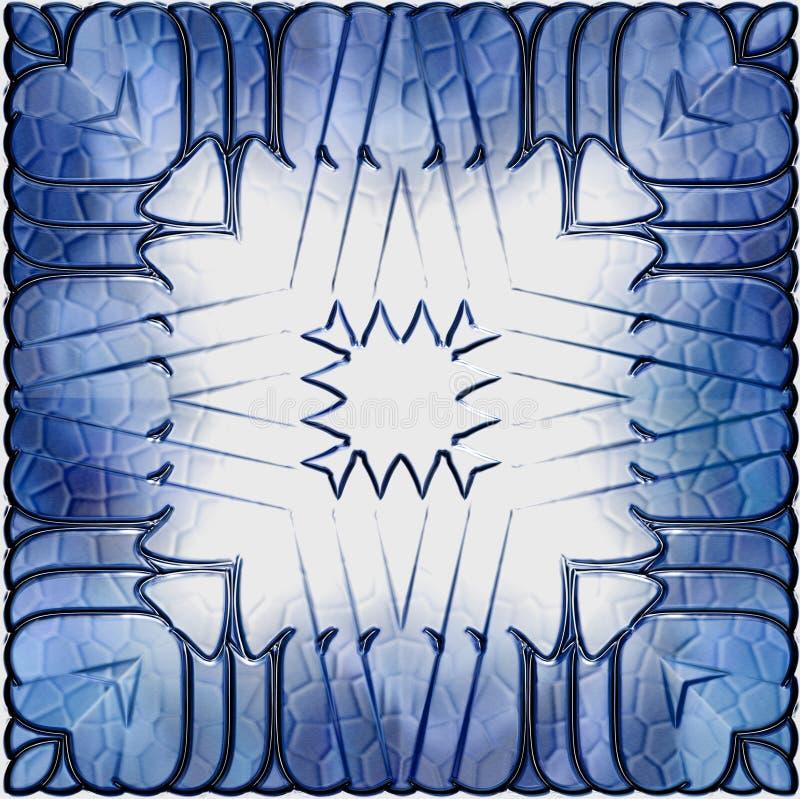 Ridé frais et les lignes sorts blancs sales de fond couvrent le bleu trouble d'art illustration libre de droits