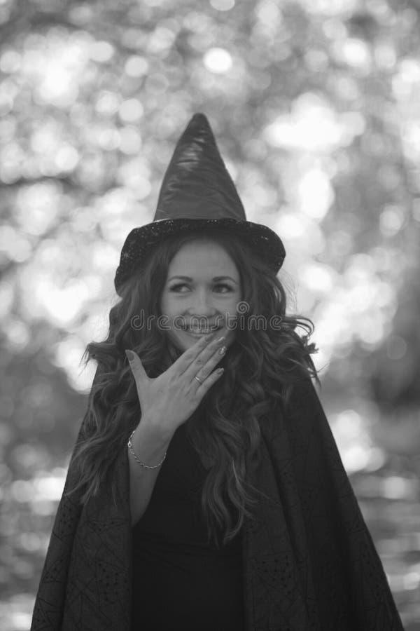 Ridículo bonito da bruxa engraçado a fada de sorriso cobre o seu fotos de stock royalty free