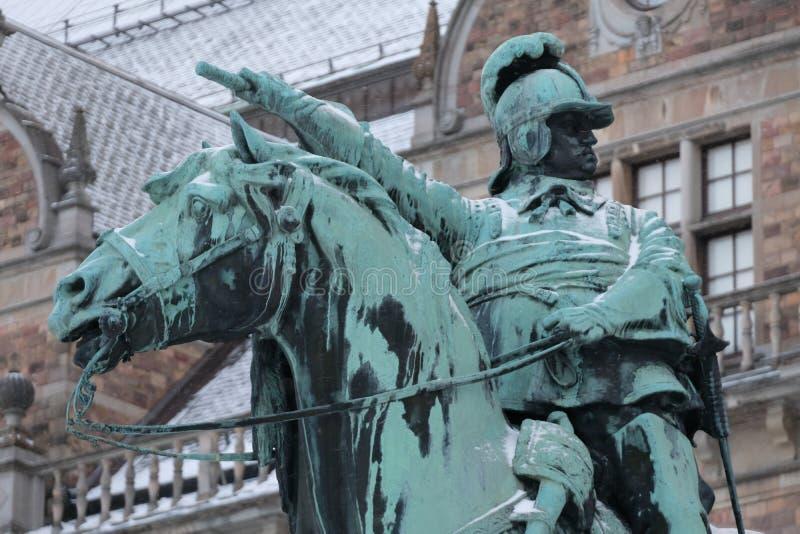 Rid- staty av konungen Charles X Gustav, Stockholm, Sverige royaltyfri bild