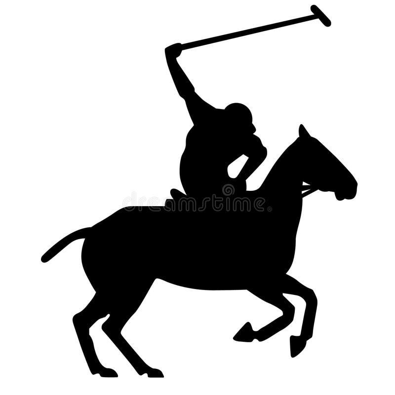 Rida en hästkontur som pekar fingervektorn, Eps, logo, symbol, kontur, illustration vid crafteroks för olikt bruk royaltyfri illustrationer