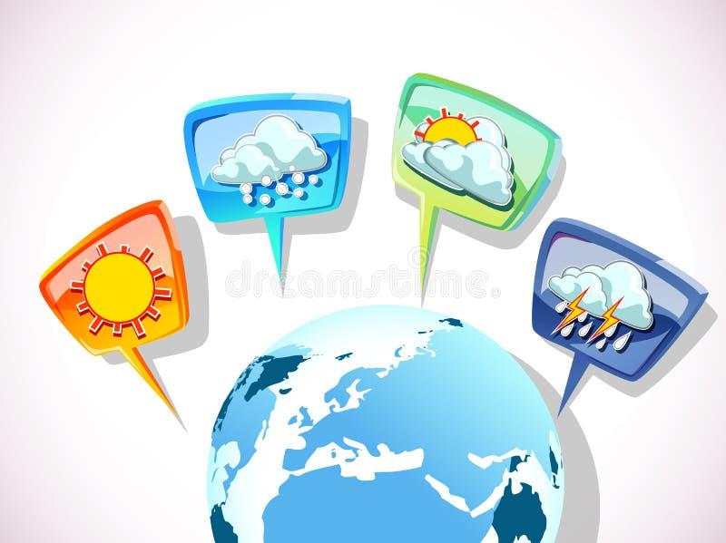 Väderprognos stock illustrationer