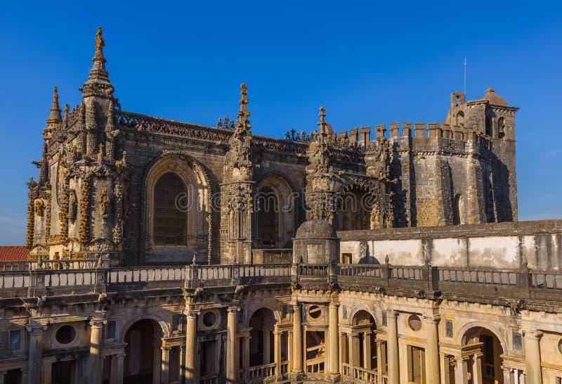 Riddare av Templaren & x28en; Kloster av Christ& x29; slott - Tomar Portu arkivfoto