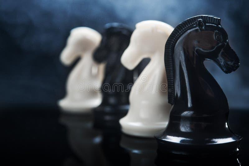 Riddare för schackstycken arkivbilder