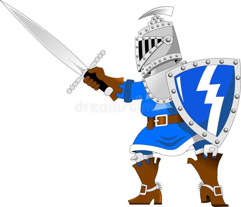 Riddare i blått royaltyfri illustrationer
