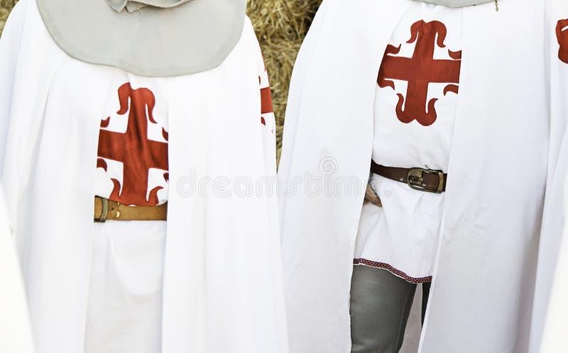 Riddare medeltida Templar arkivbilder