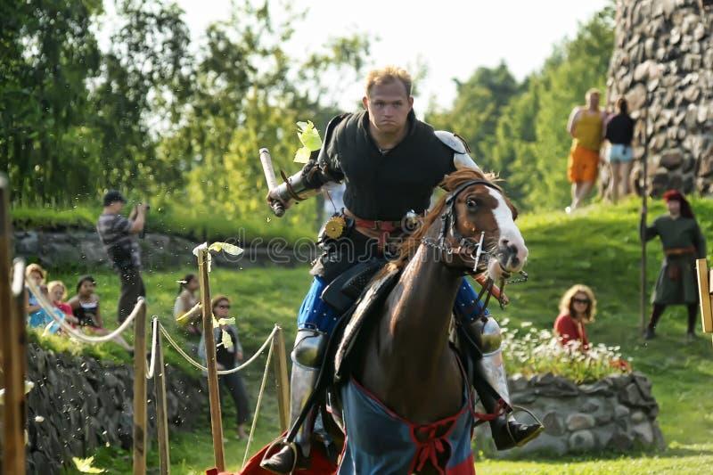 Riddare på hästen royaltyfria foton