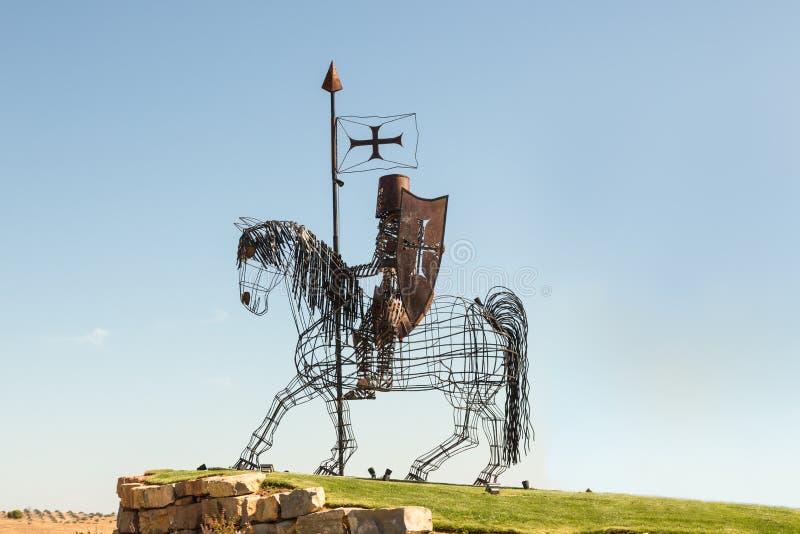 Riddare Sculpture, Castro Marim, Portugal fotografering för bildbyråer