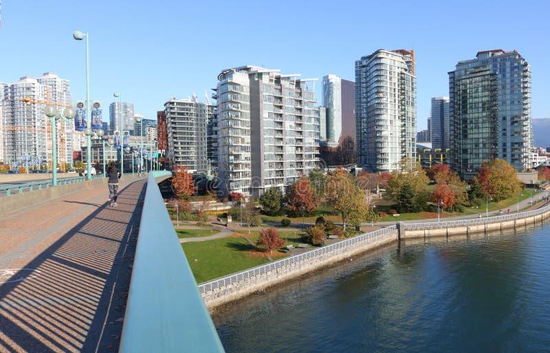 Riddare Street Bridge för Vancouver ` s fotografering för bildbyråer
