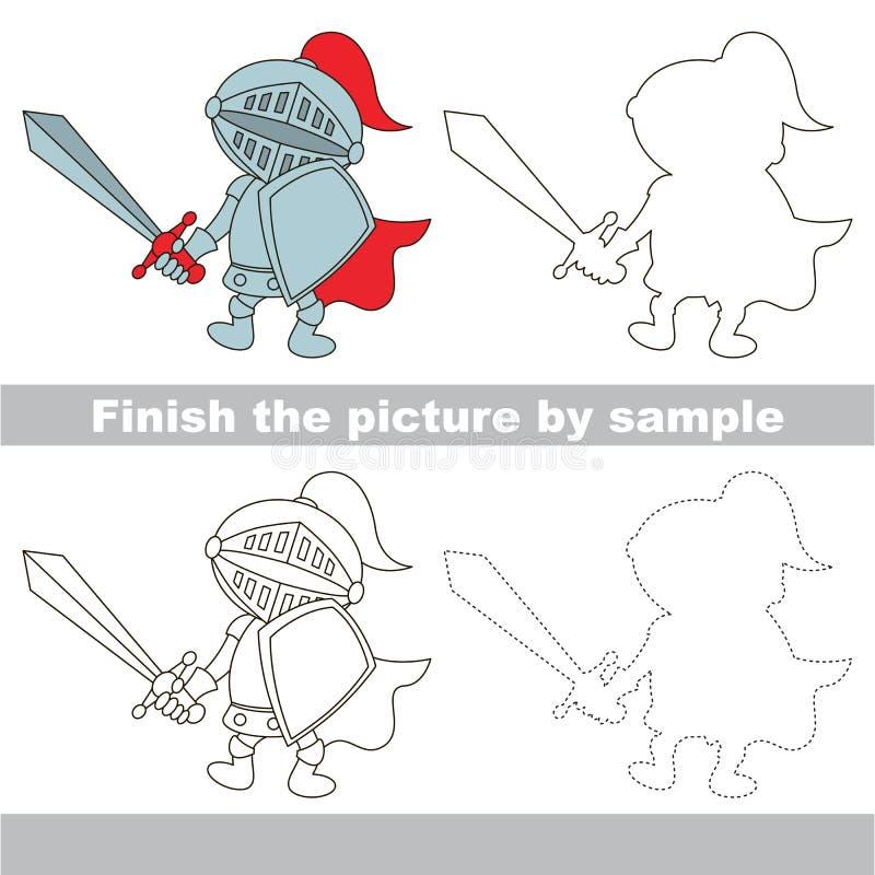 Riddare Teckningsarbetssedel royaltyfri illustrationer