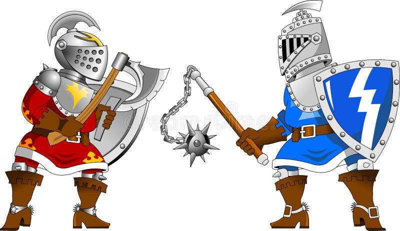 riddare två royaltyfri illustrationer