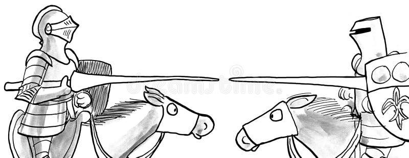 riddare två vektor illustrationer