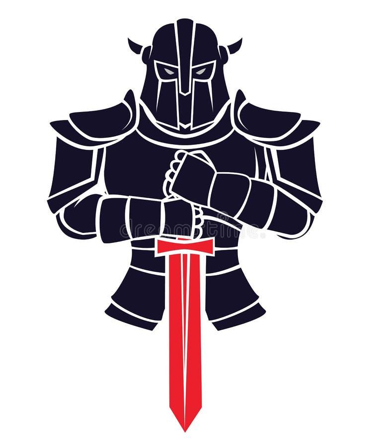 Riddare Warrior vektor illustrationer