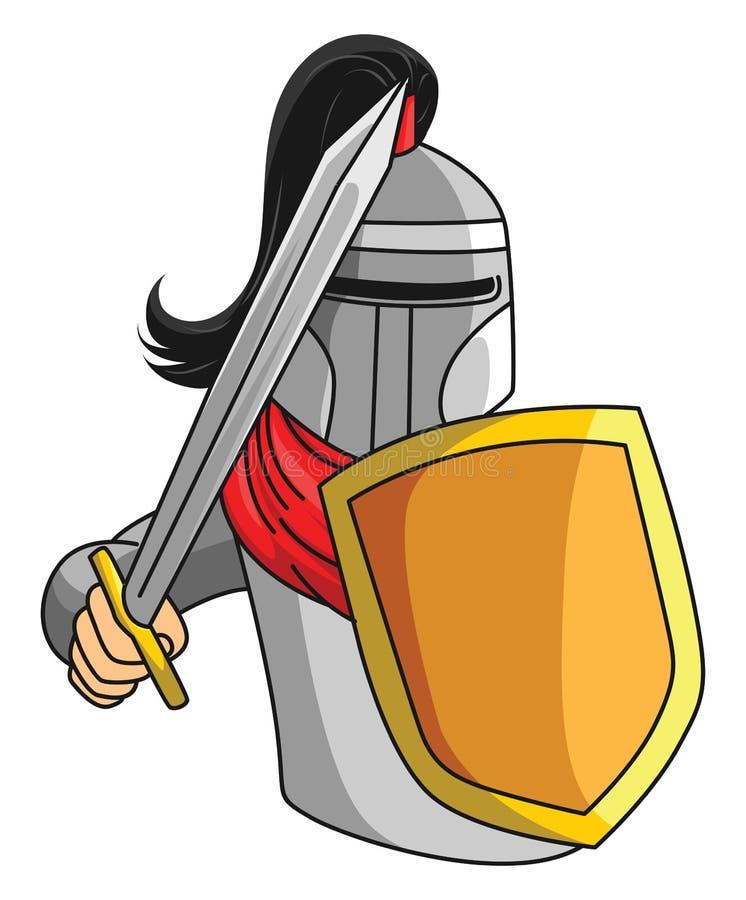 Riddare Warrior stock illustrationer