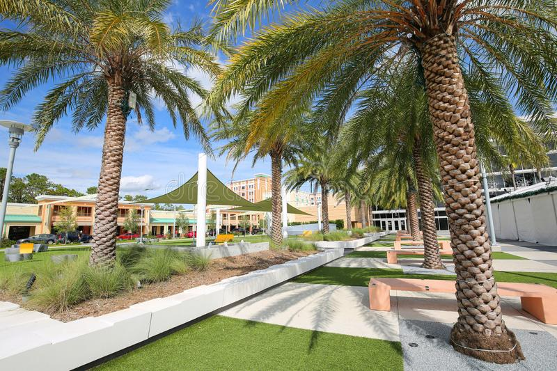 RiddarePlaza på universitetet av centrala Florida royaltyfri foto
