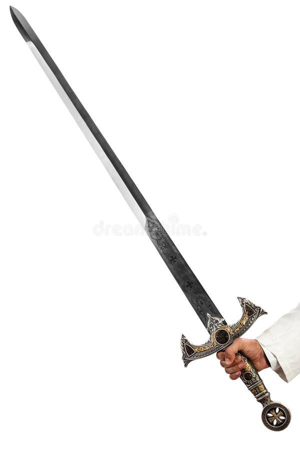 Riddares svärd royaltyfria bilder
