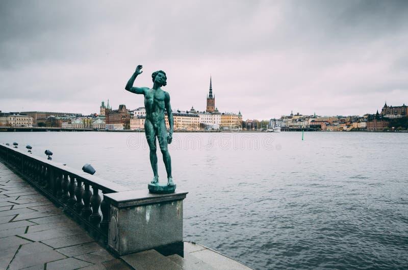 Riddarholmen in Stockholm lizenzfreies stockfoto