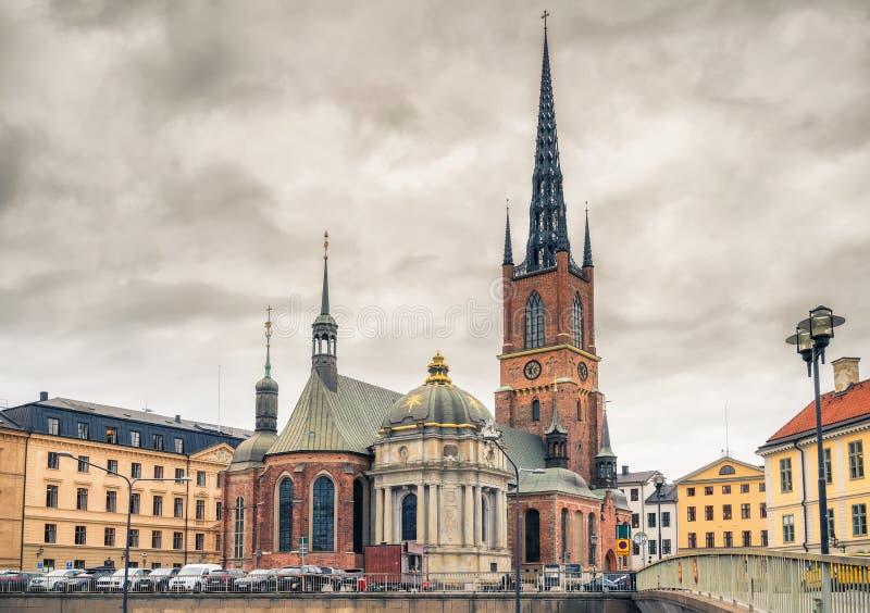 Riddarholmkerk in Stockholm, Zweden stock fotografie