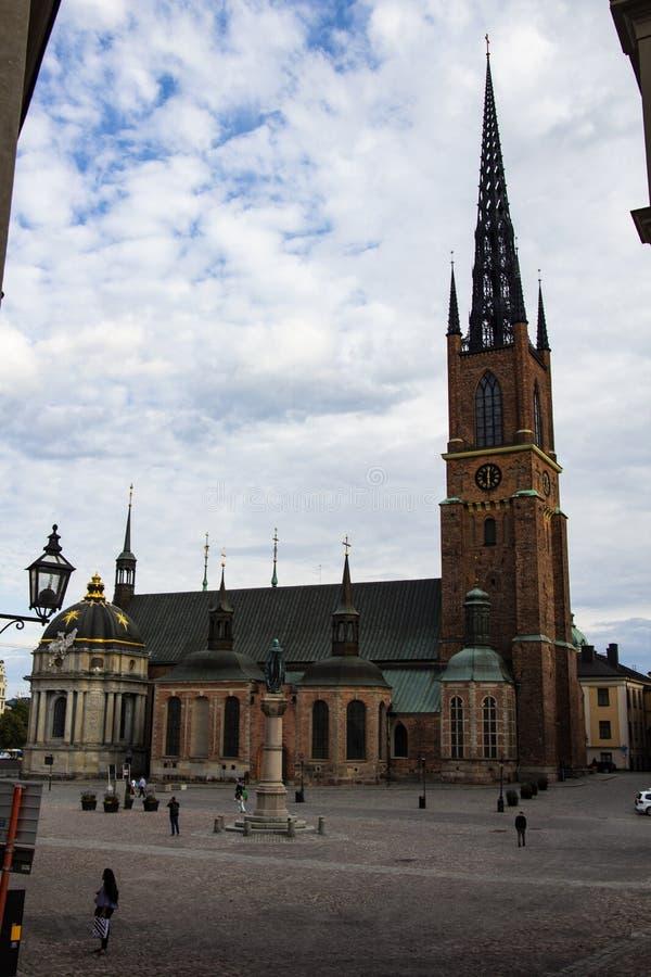 Riddarholmskyrkan uno di Stockholms molte chiese immagini stock