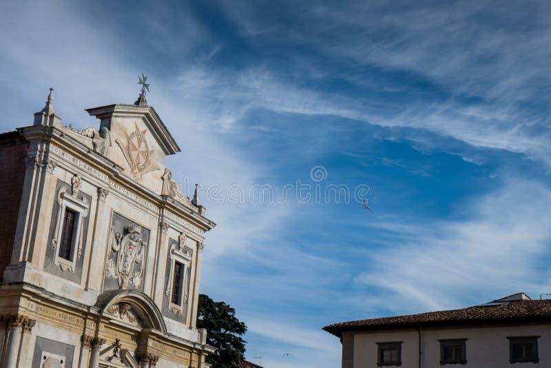 Riddarna kvadrerar piazzadeien Cavalieri, Pisa, Tuscany, Italien arkivfoto