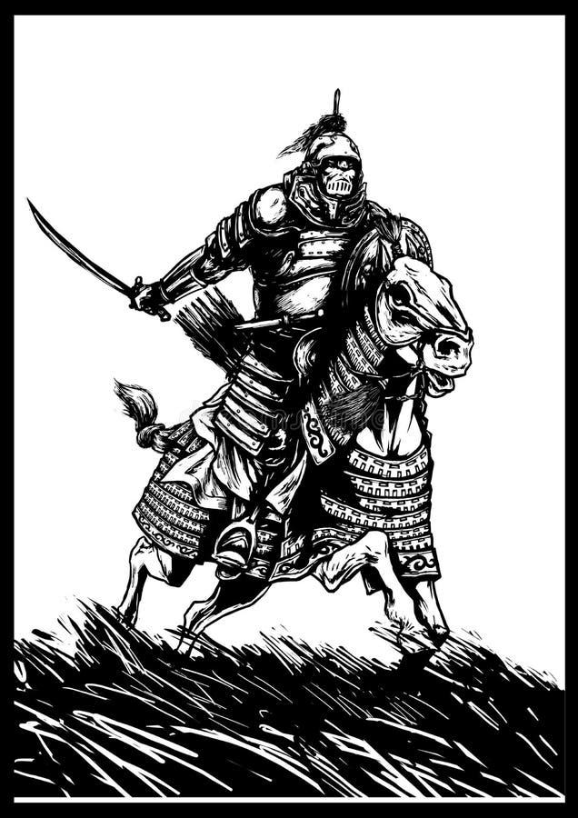Ridder royalty-vrije illustratie