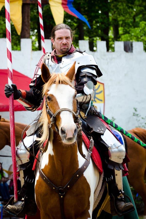 Ridder bij het Festival van de Renaissance stock foto's