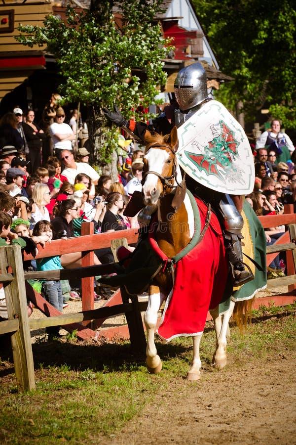 Ridder bij het Festival van de Renaissance royalty-vrije stock foto