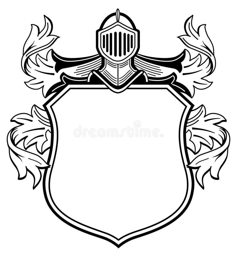 Ridder met wapenschild royalty-vrije illustratie