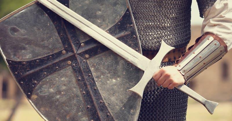 Ridder met zwaard royalty-vrije stock foto's