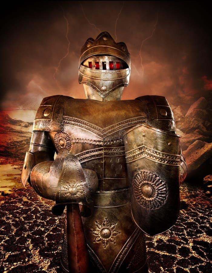 Ridder in pantser royalty-vrije stock afbeelding