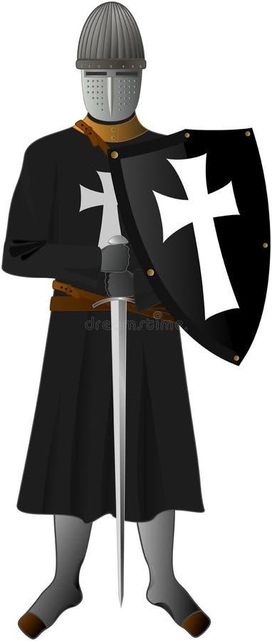 Ridder van de Ridders Hospitaller stock afbeeldingen