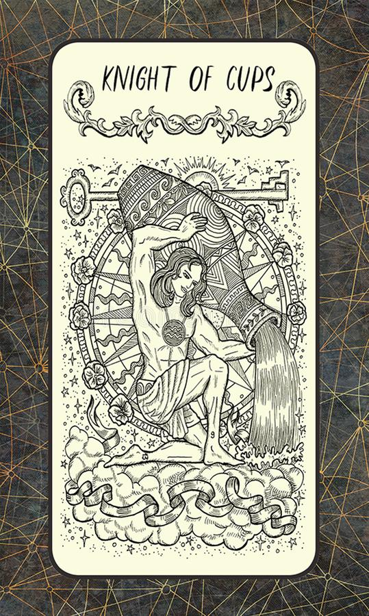 Ridder van koppen Minder belangrijke Arcana-Tarotkaart royalty-vrije illustratie