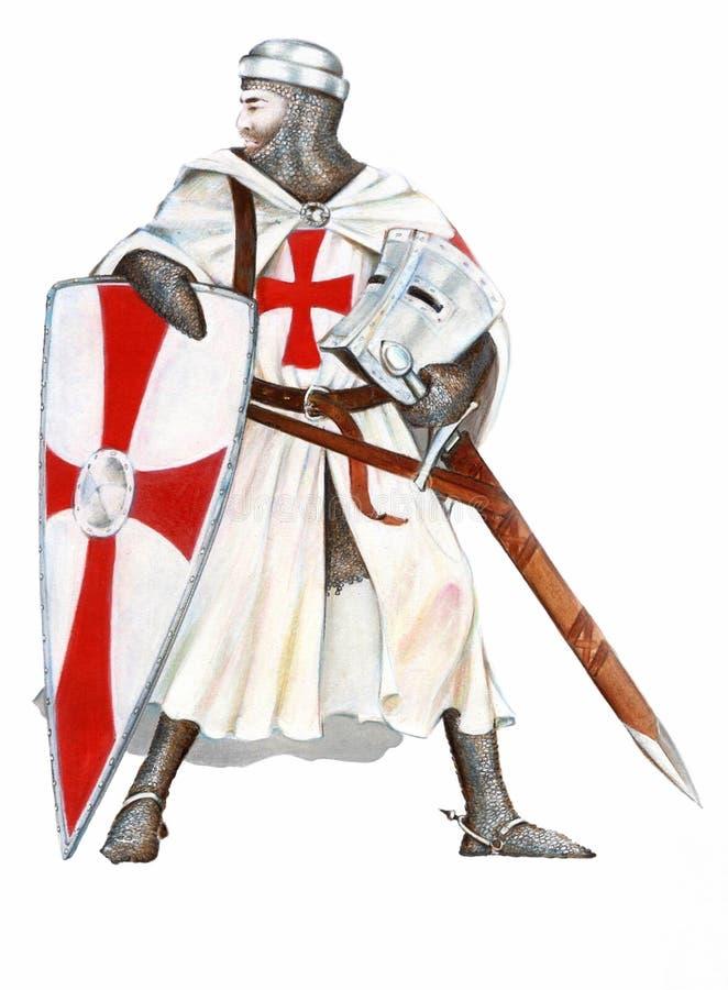 Ridders Templar royalty-vrije stock foto's