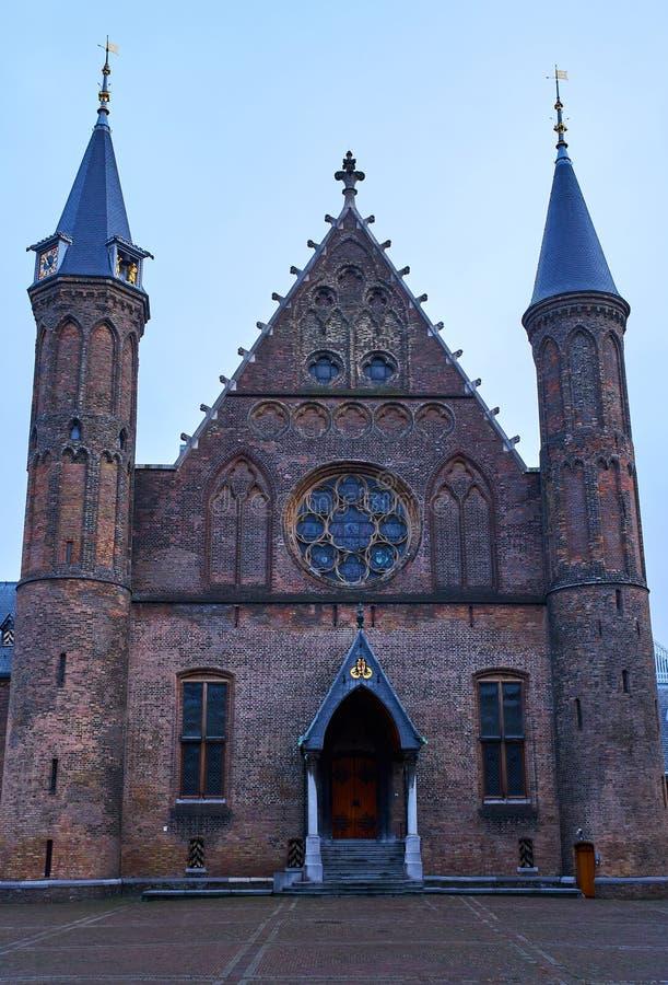 Ridderzaal, Binnenhof, Den Haag, die Niederlande lizenzfreies stockbild