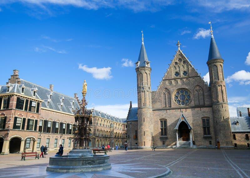 Ridderzaal Binnenhof, Haag, Nederländerna royaltyfria bilder