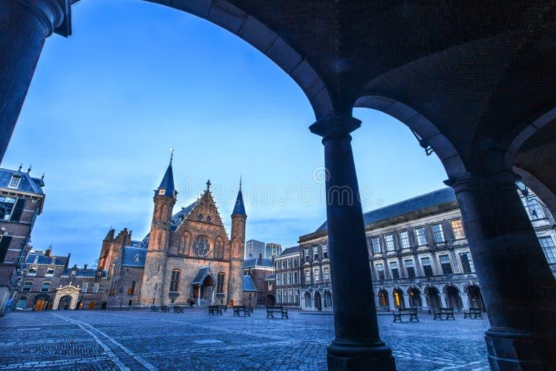 Ridderzaal in Binnenhof, The Hague, Netherlands stock images
