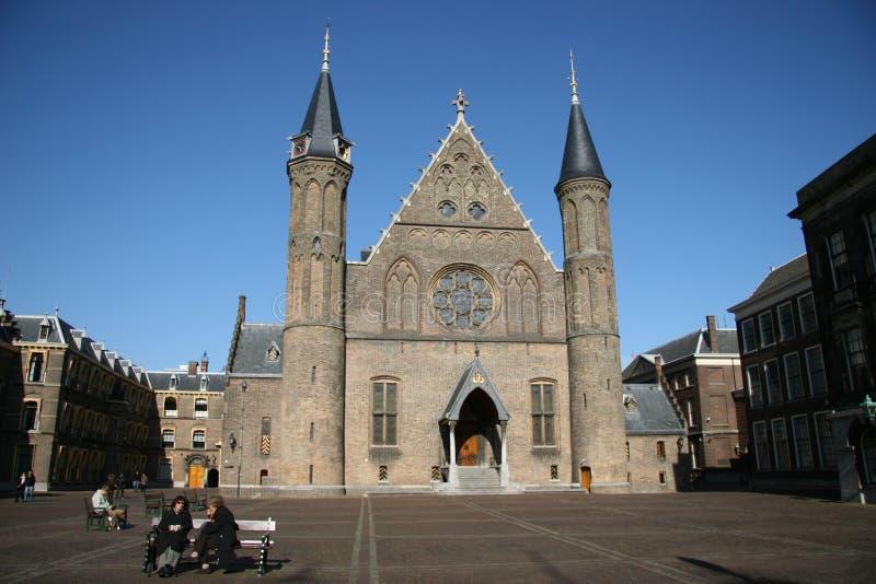 Ridderzaal (cavaleiros Salão) fotos de stock