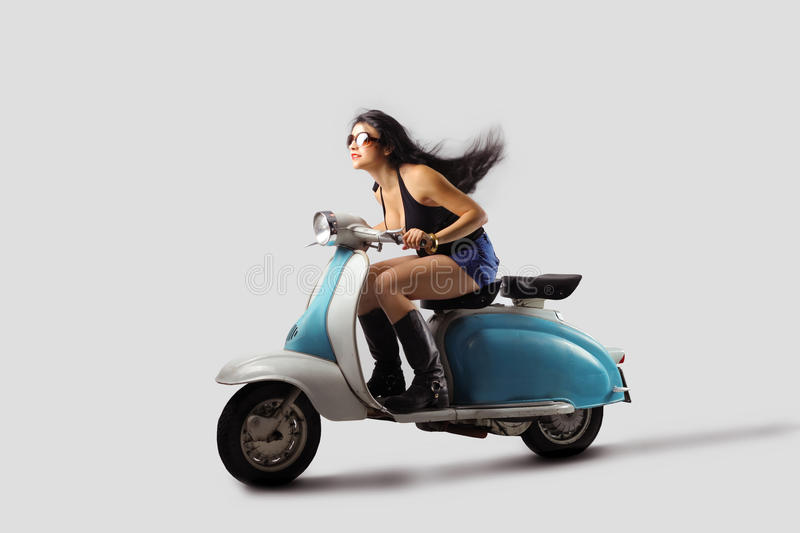 Download Ride stock photo. Image of travel, speed, moped, woman - 11006648