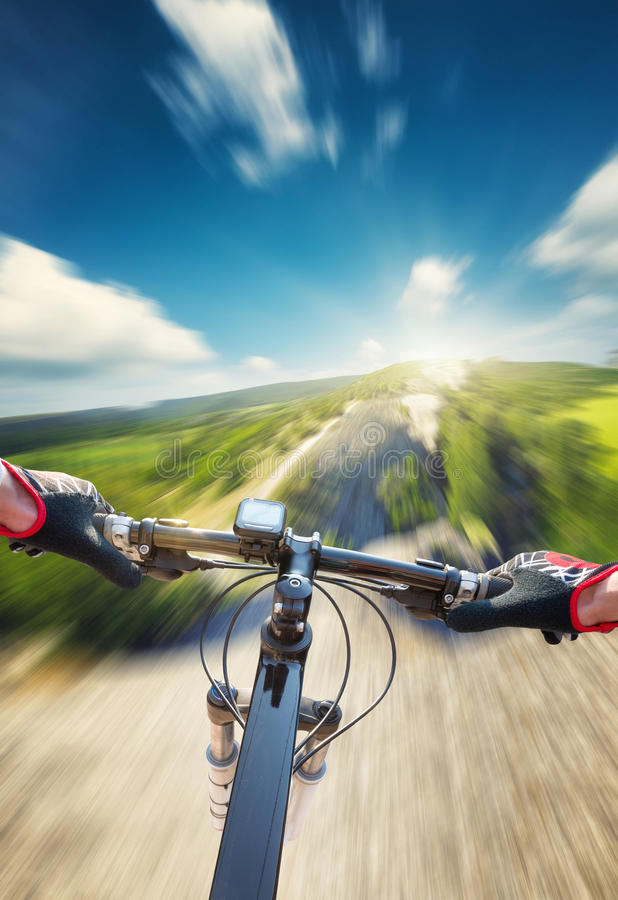 Ride on bicycle royalty free stock photo