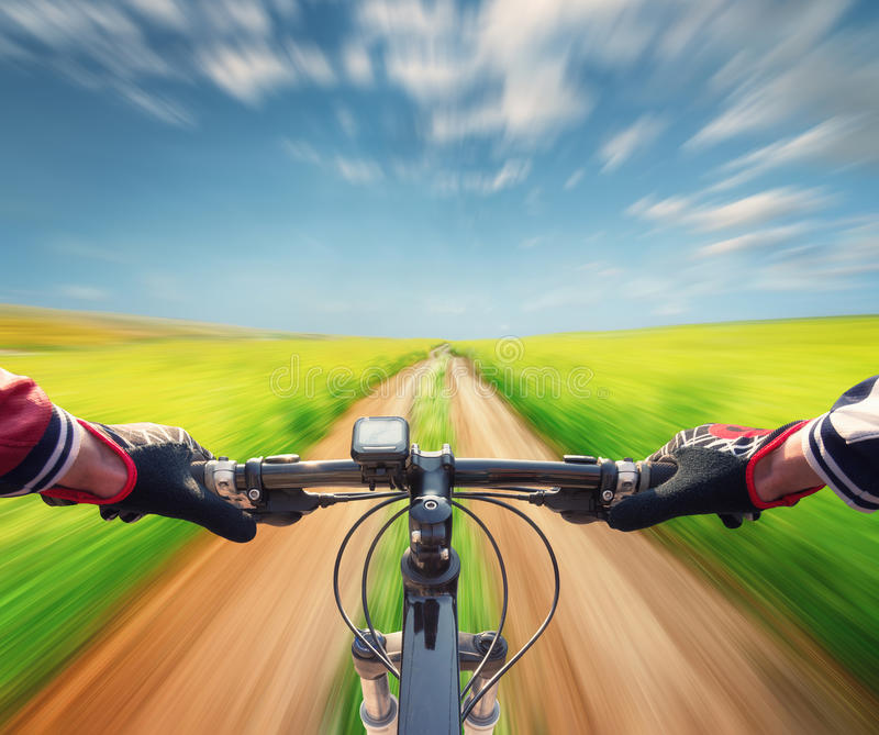 Ride on bicycle royalty free stock images
