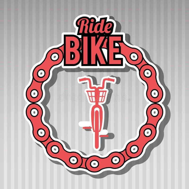 ride bike design royalty free illustration