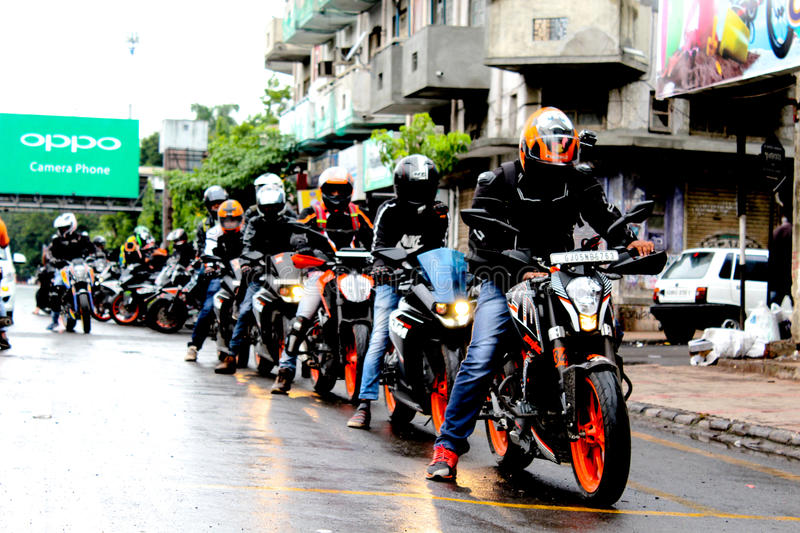 Ride& x27;s line up stock photography