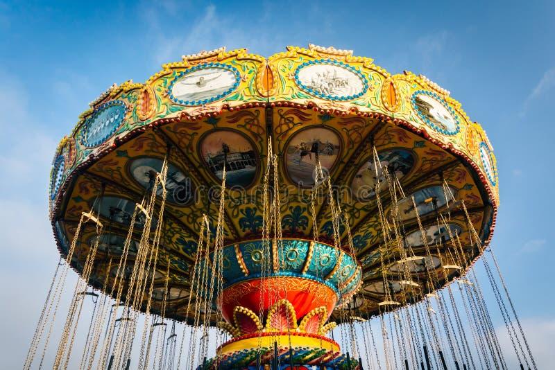 Download Ride At The Santa Cruz Boardwalk In Santa Cruz Stock Photo - Image of beautiful, clouds: 53192120
