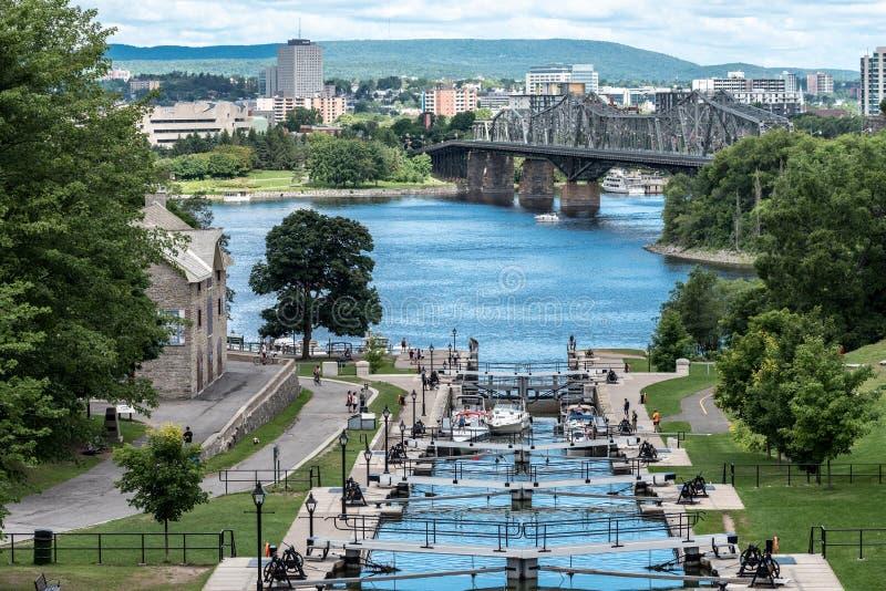 Rideau运河在渥太华 免版税库存图片