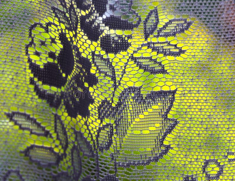 Rideau avec un motif floral photographie stock